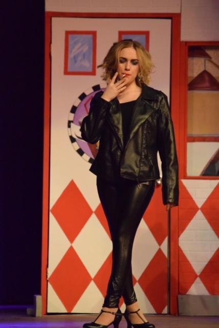 "Sandy ""smoking"" during ""Grease"""
