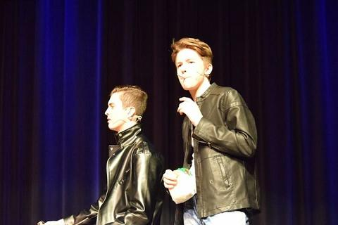 "Two T-Birds during ""Grease"""
