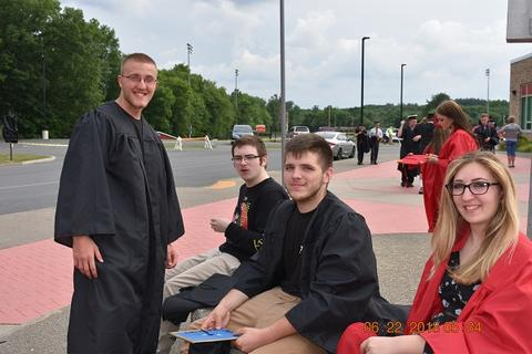 Candid photos of grads outdoors