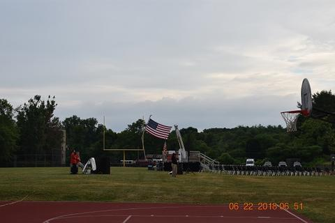 Flag being raised and displayed