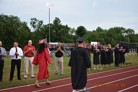 Grads walking the commencement processional