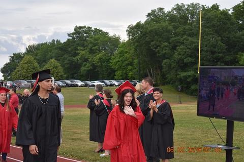 More grads walking