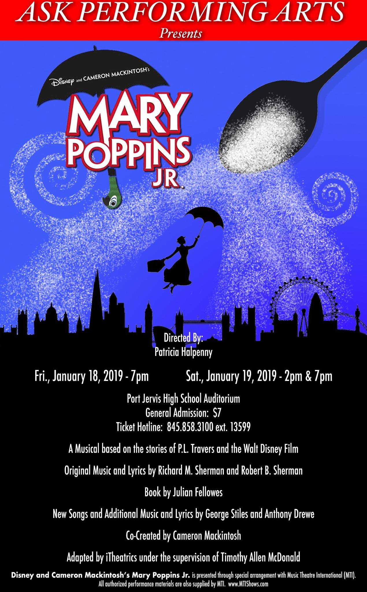 ASK Performing Arts Presents Mary Poppins JR  | District