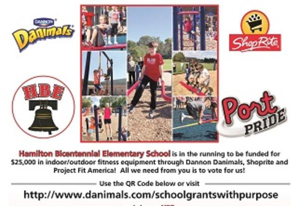 Hamilton Bicentennial Elementary School is in the running...