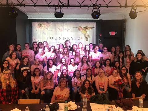 Group Photo: 12th grade graduating girls at the 1st GIRL SUMMIT #strongertogether conference held at Foundry42. The summit focused on female health, empowerment and future successes of our graduates.