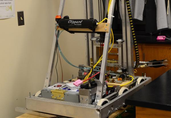 Robot on a cart