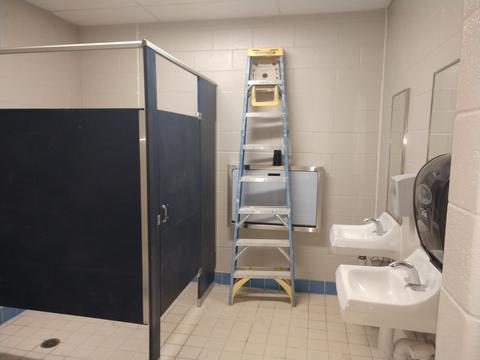 New gym bathroom