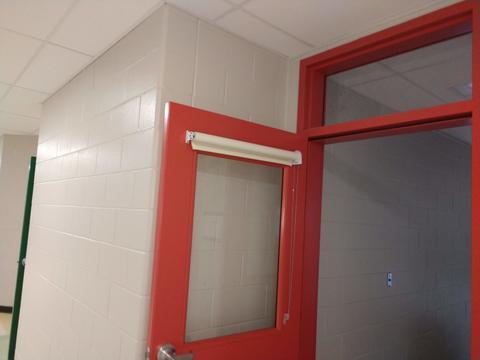 New wing classroom door