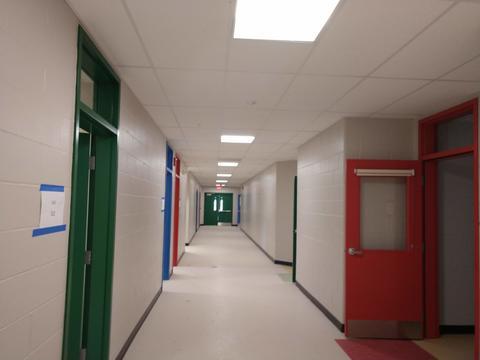 New wing hallway