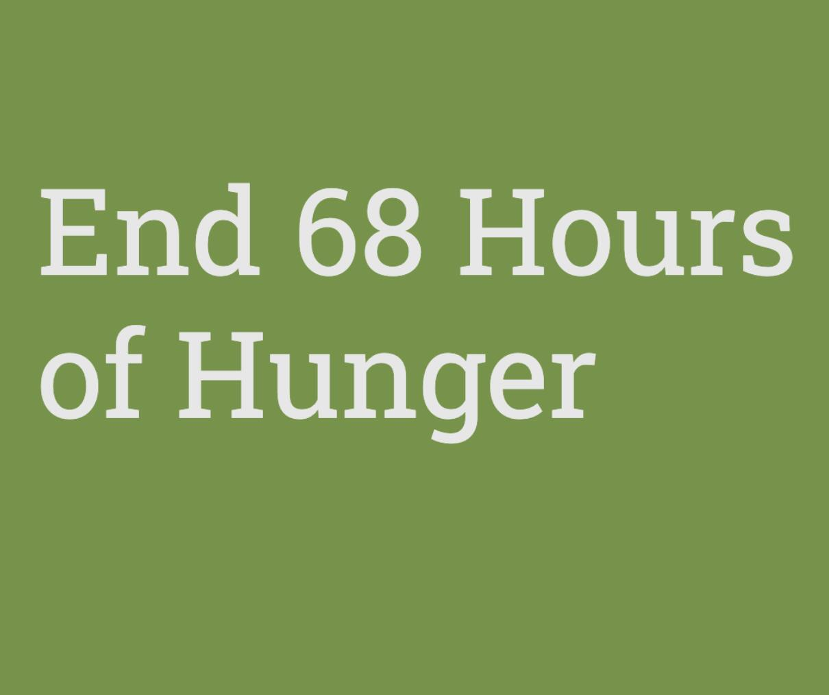 End 68 Hours of Hunger program logo