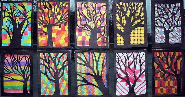 Fall Trees Student Artwork