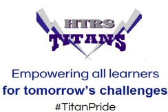 "Humboldt Table Rock Steiner Titans logo; says ""Empowering all learners for tomorrow's challenges. #TitanPride"""