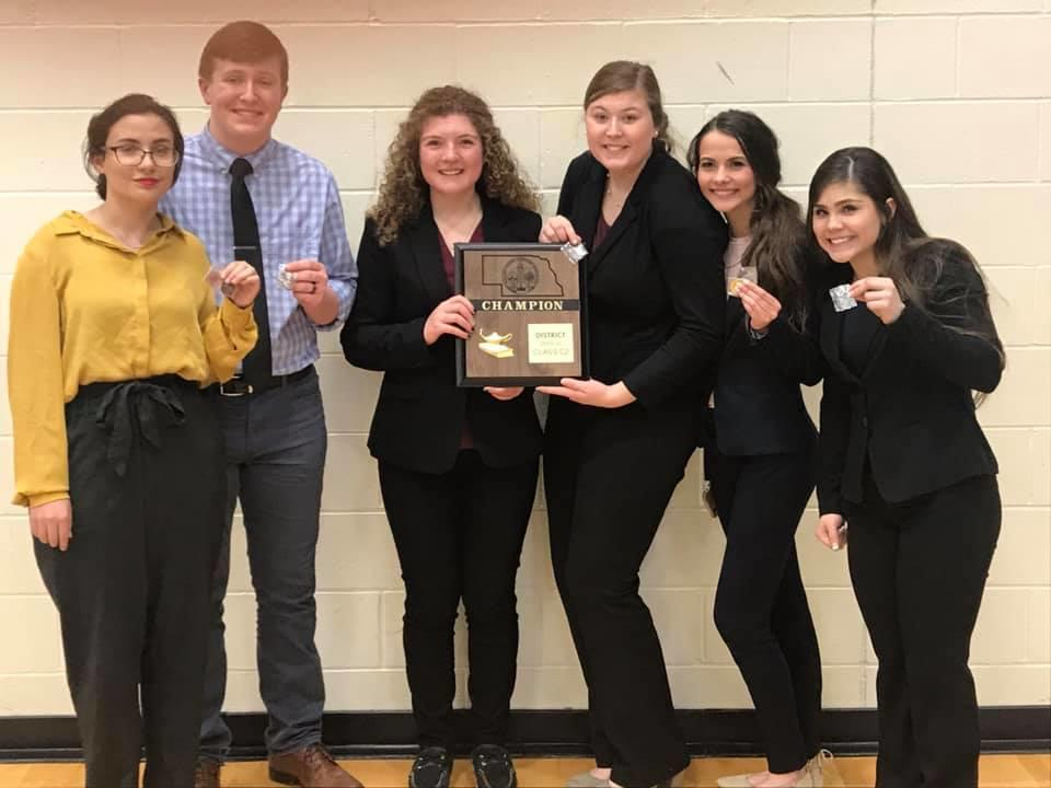 District Speech Champs - Going to State