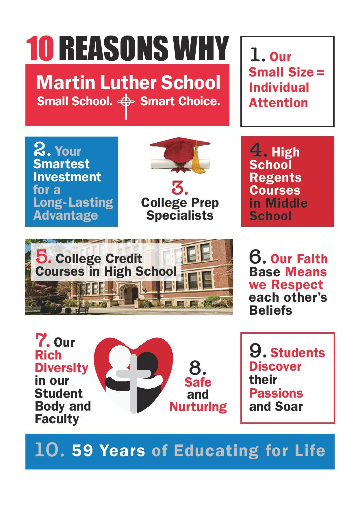 Top 10 reasons to attend Martin Luther School