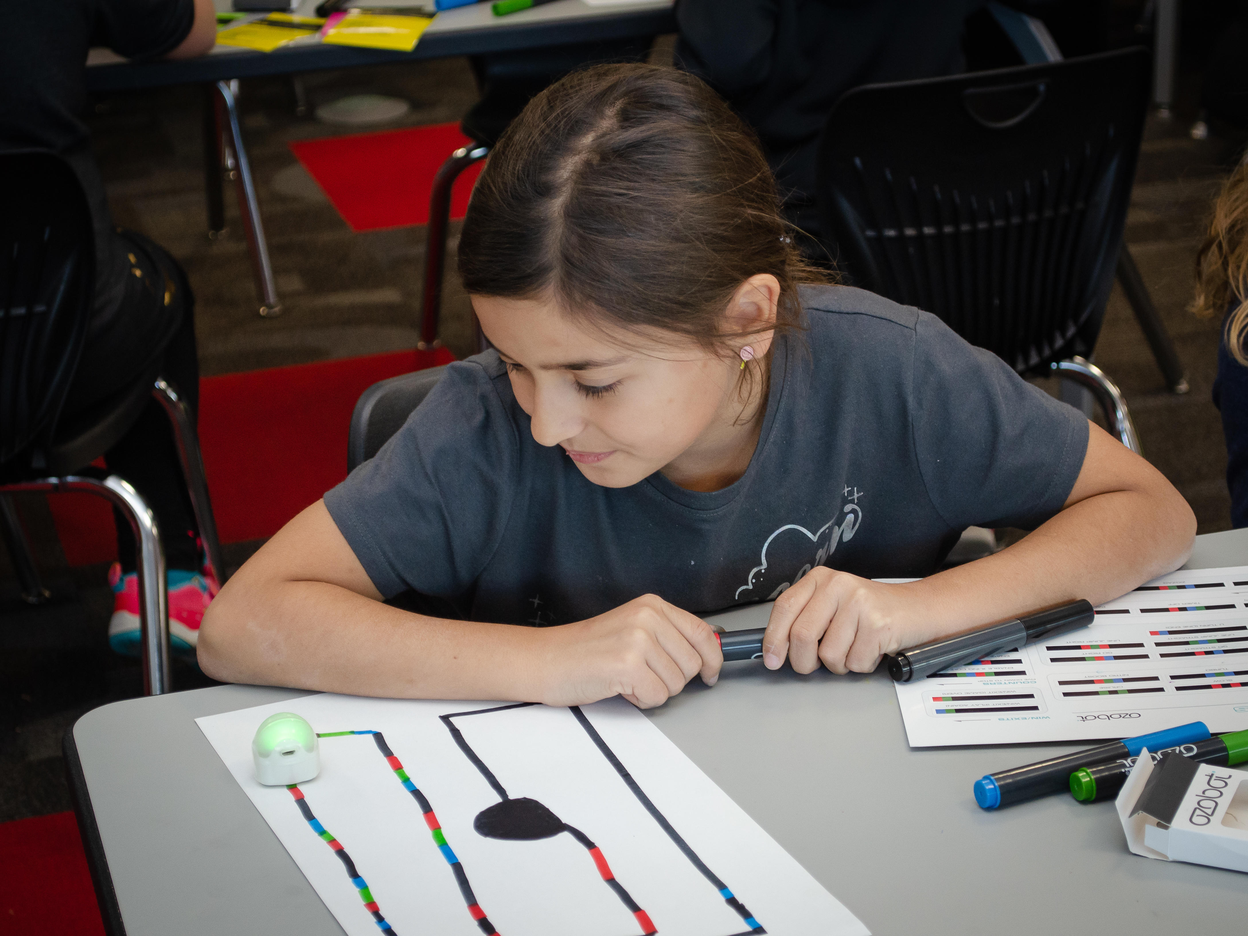 Coding Ozobots in the Library