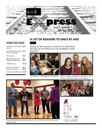 AHS Newsletter Cover Image