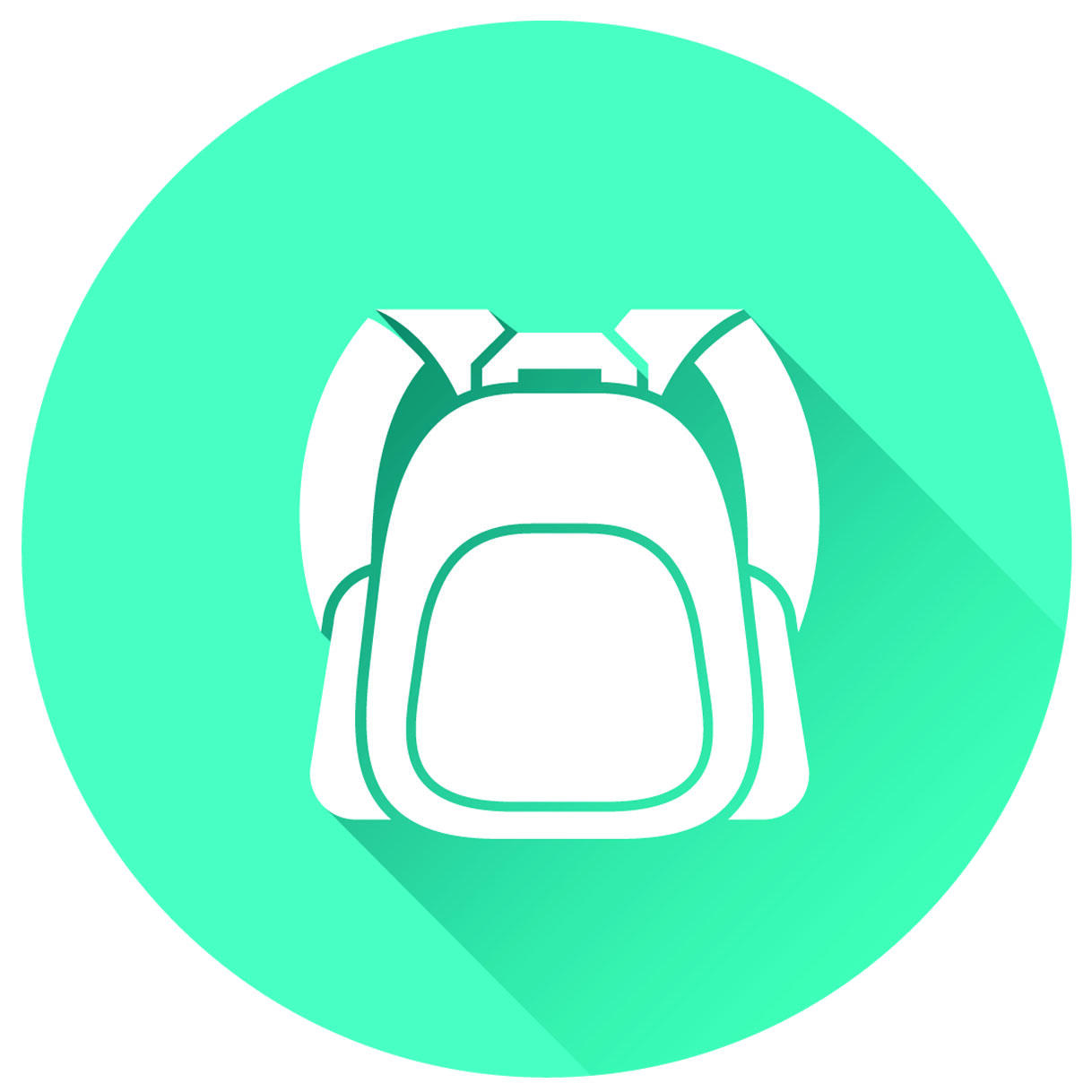 Image of a backpack on a blue background