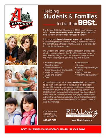 Student & Family Assistance Program Flyer