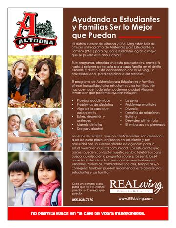 Student & Family Assistance Flyer Spanish