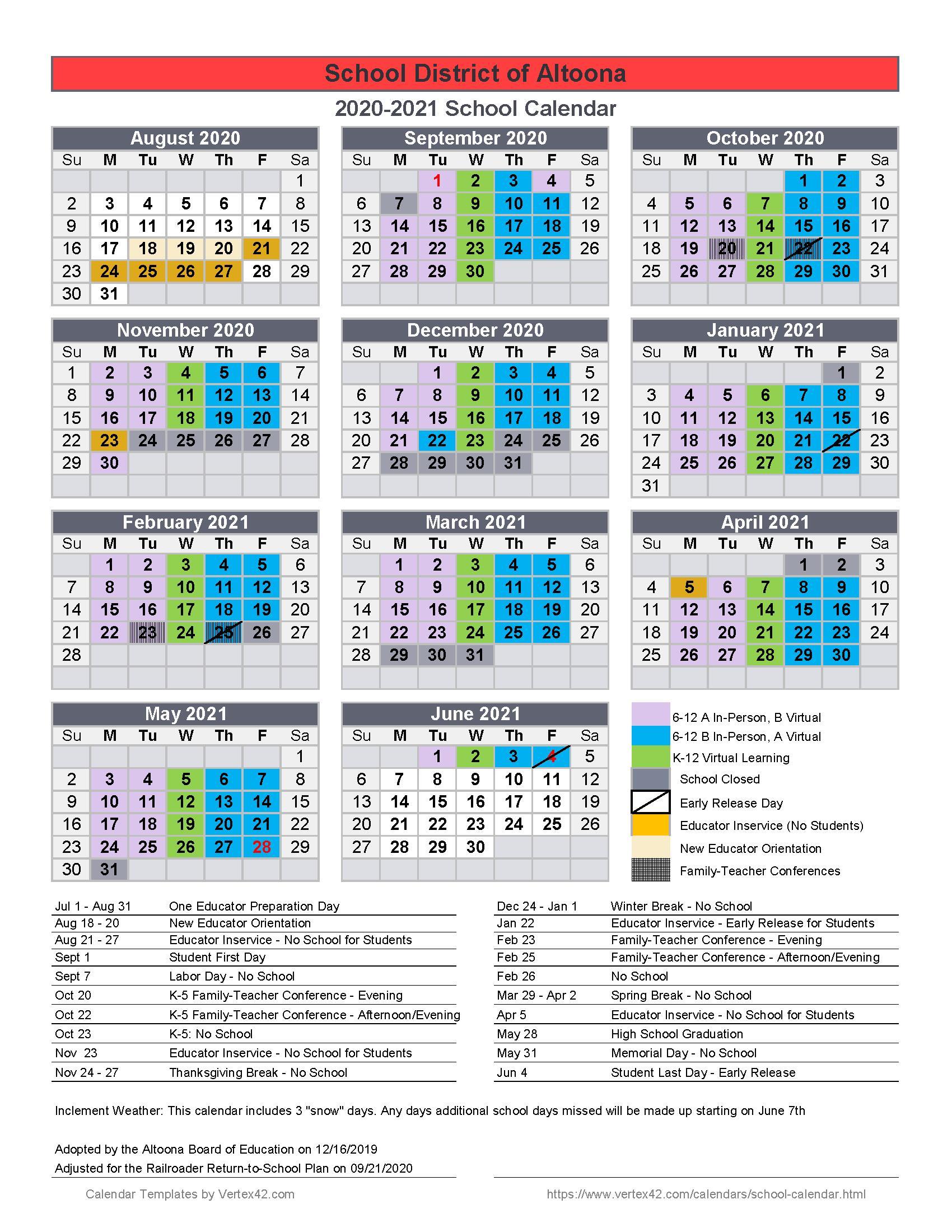 School Year Calendars | Parents