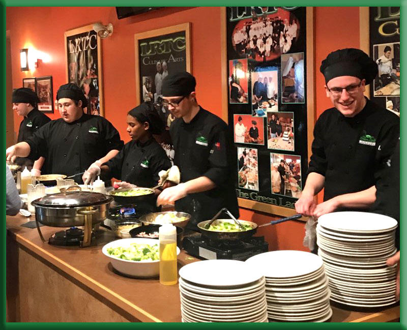 Photo of students at the Green Ladle Culinary Art School in Lewiston, Maine