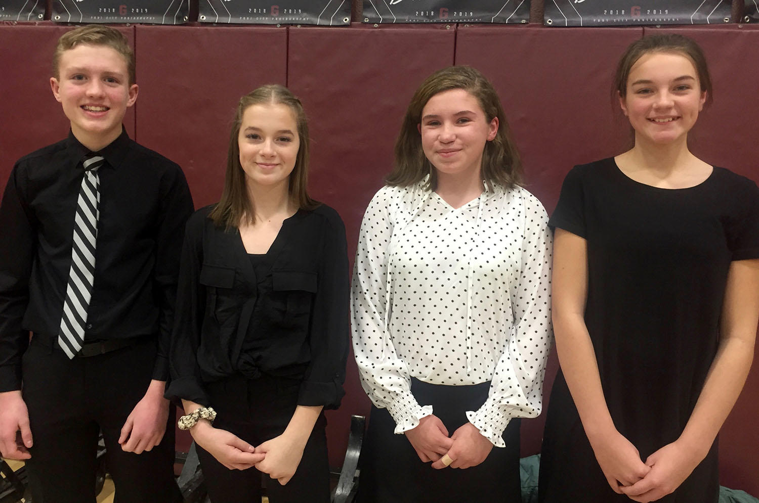 Photo of BWMS students at the District II Honors Choral Festival