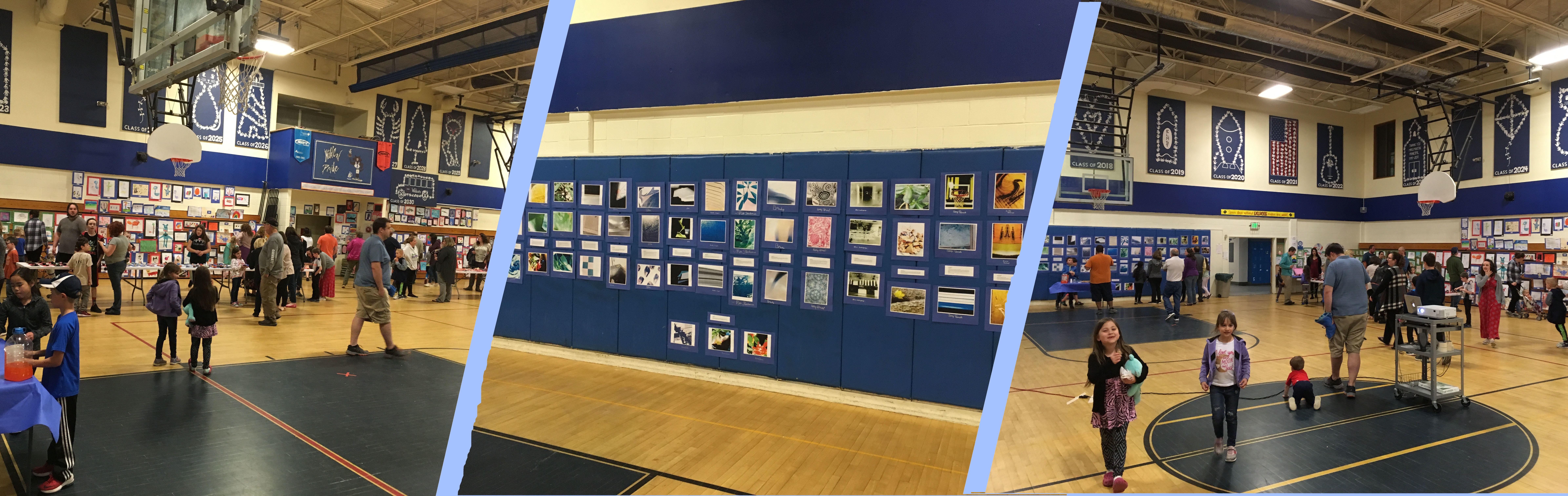 The RSU16 K-6 District Art Show includes one artwork from each elementary student in the district (MCS, ESS, PCS).  The Art Show was held at Elm Street School in Mechanic Falls on Thursday, May 23, 2019.