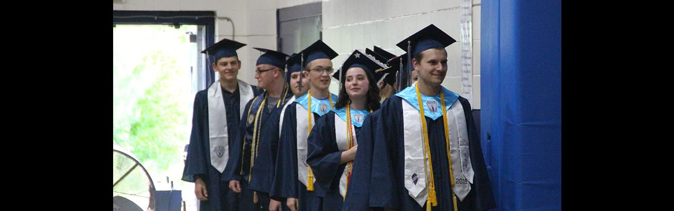 Photo from the 2019 Poland High School graduation