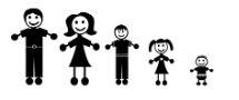 Stick figure family