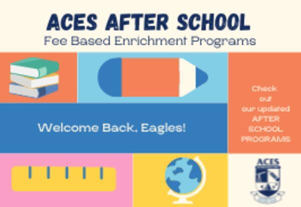 ACES After School Fee Based Enrichment Program Flyer