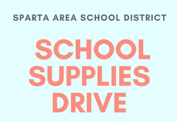 School Supplies Drive flyer
