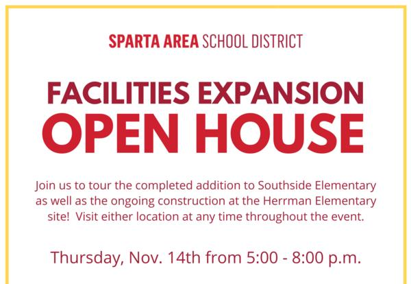 Facilities Expansion Open House Flyer