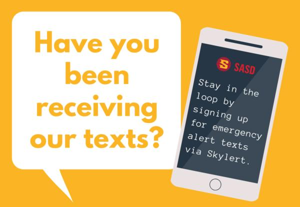 have you been receiving our texts?  graphic