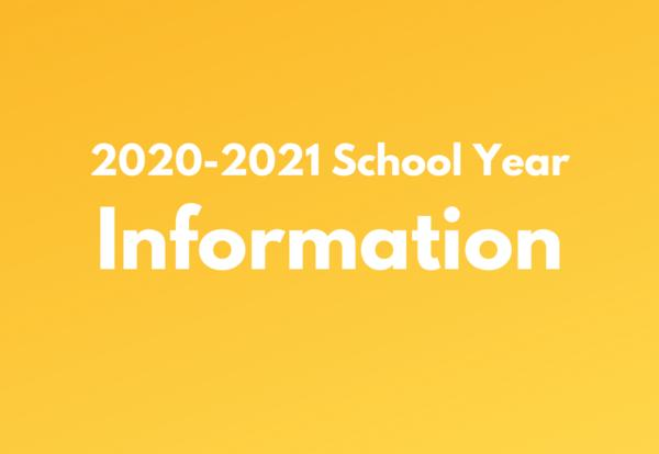 2020-21 School Year Information