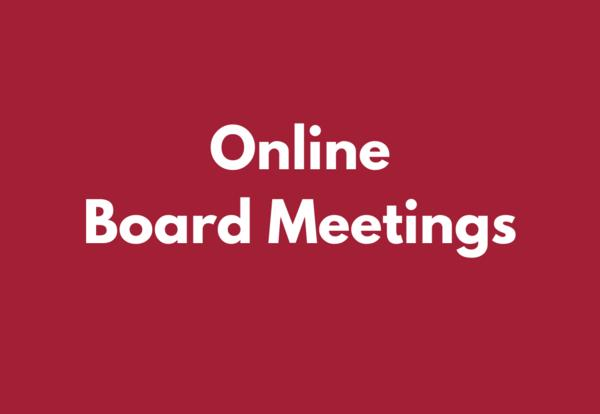 Online Board Meeting Information