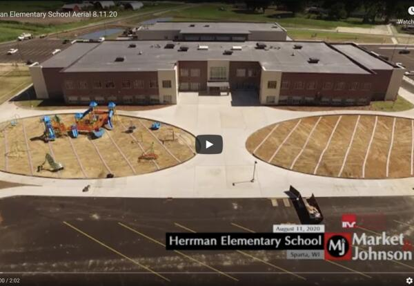 Herrman Elementary Aerial View Video