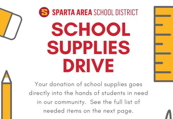 School Supplies Drive - Donations Needed