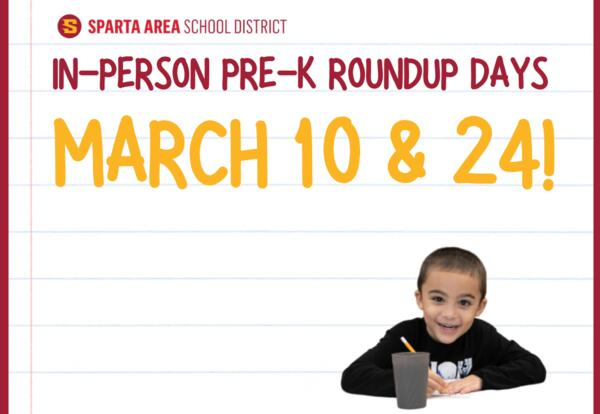 pre-k roundup days march 10 & 24
