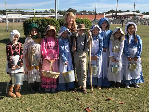 Mrs. Dillard's class in the book parade