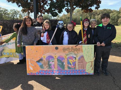 Harry Potter in the book parade