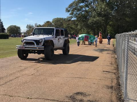 Jeep in the book parade