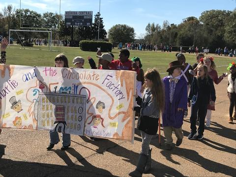 Charlie and the Chocolate Factory in the book parade