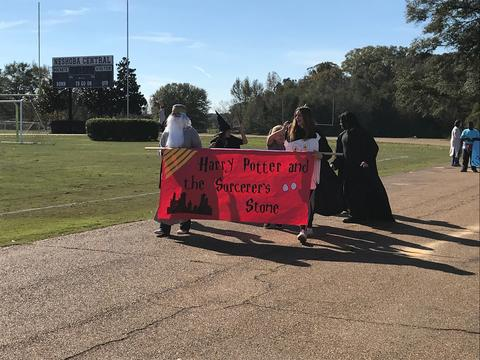Harry Potter and the Sorcerer's Stone in the book parade
