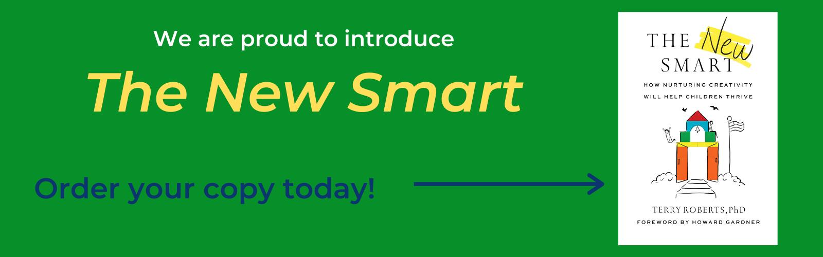 Graphic announcing publication of new book The New Smart