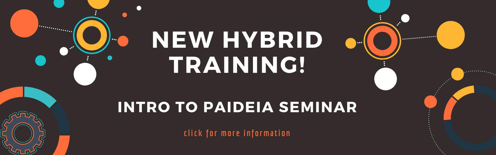 Abstract graphic to link to new hybrid training course