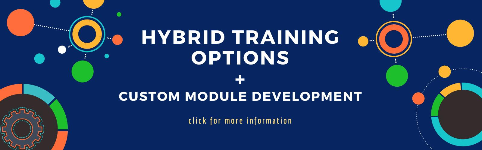 Abstract graphic to link to hybrid training courses