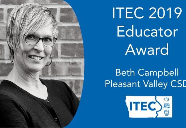 Innovation and Tech Coach Beth Campbell Selected as ITEC Outstanding Educator Award Winner