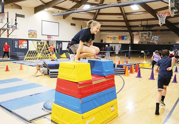 Obstacle Course Challenges Students