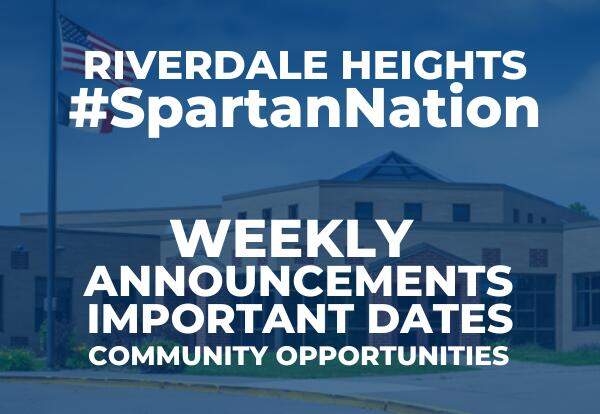 Riverdale Heights enews graphic
