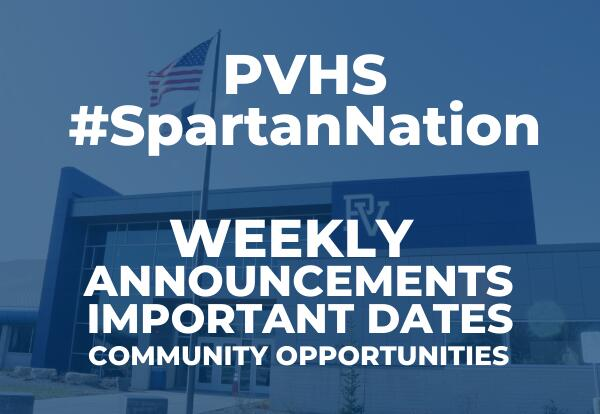 PVHS #SpartanNation January 15